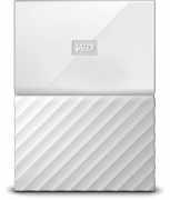WD My Passport 1TB Portable External Hard Drive (White)